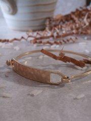 hammered bar bracelet gold