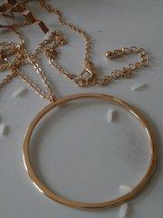 bigger o necklace gold