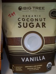 Big Tree organic Coconut sugar Vanilla 16 oz
