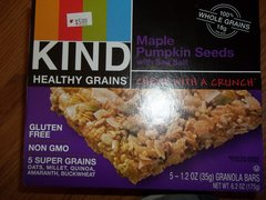 Kind maple pumpkin seeds healthy grain bar