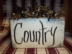 wooden Box Candle holder Country