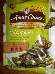annie Chun's roasted seaweed snacks wasabi 0.35 oz