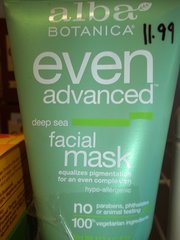 Alba Botanica® Even Advanced Deep Sea Facial Mask -- 4 fl oz