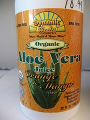 Dynamic Health Organic Aloe Vera Juice Orange & Mango 32 fl oz