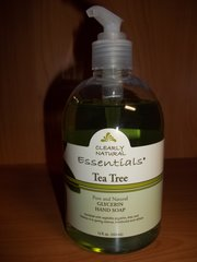 clearly natural pure & natural glycerin hand soap Tea Tree 12 fl oz