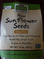 Now Real Food Raw Sunflower seeds Unsalted 16 oz