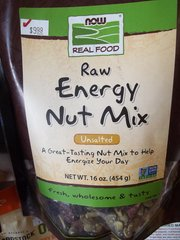 NOW Real Food™ Raw Energy Nut Mix Unsalted -- 16 oz