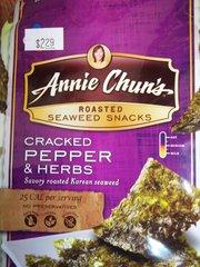 annie Chun's roasted seaweed snacks cracked pepper & herbs 0.35 oz
