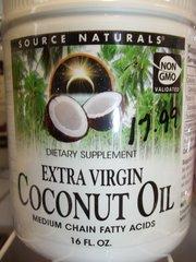 Source Naturals Extra Virgin Coconut Oil Non GMO 16 fl oz