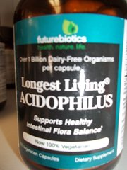 Futurebiotics Longest Living Acidophilus™ -- 1 billion CFUs - 100 Vegetarian Capsules