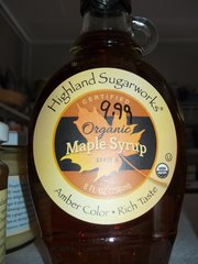 Highland Maple Syrup organic Grade A 8 fl oz