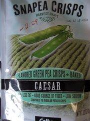 Snapea crisps Flavored green pea crisps baked caesar 3.3 oz
