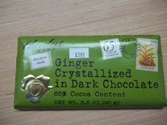 Chocolove Ginger crystalized in dark Chocolate 65% cocoa content 3.2 oz