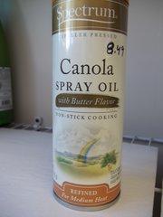 Spectrum Canola Oil Expeller Pressed w/butter 6 fl oz