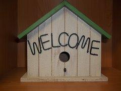 welcome bird house