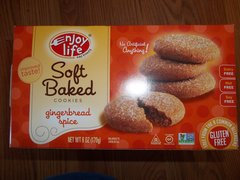 Enjoy Life Gingerbread Spice soft baked cookies gluten free, dairy free, nut free, soy free NON GMO