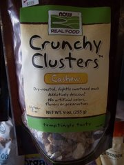 NOW Foods Real Food Crunchy Clusters™ Cashew -- 9 oz