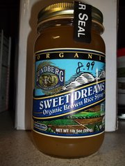 Lunberg sweet dreams brown rice syrup organic gluten free