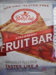 Betty Lou's fruit bars strawberry non GMO/gluten free