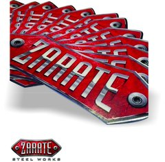 Zarate Steel Works Sticker 6x2in - Red