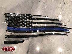 Law Enforcement Tattered Flag