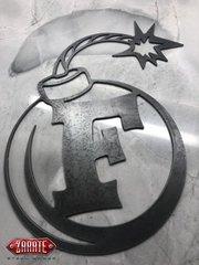 F Bomb Metal Art