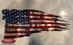 American Tattered Flag