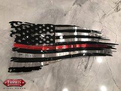 Firefighter Tattered Flag