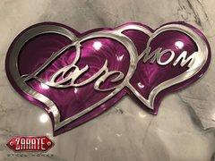 Love Mom Dual Heart