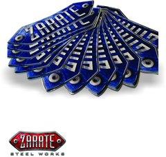 Zarate Steel Works Sticker 6x2in - Blue