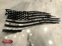 Blacked out Tattered American Flag