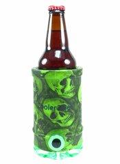 Cooler 2 See® Green Skull Pattern Koozie