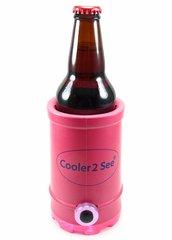Cooler 2 See® 2.0 Pink Koozie