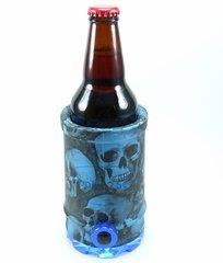 Cooler 2 See® 2.0 Blue Skull Koozie
