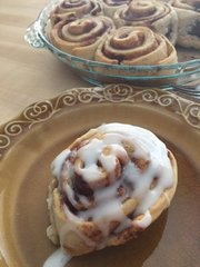 Cinnamon Buns with Traditional Sweet Icing