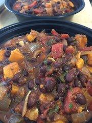 Sweet Potato Black Bean Soup w. Cornbread