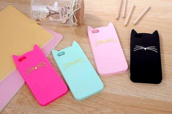 Win Iphone 7 Plus >> rubber cat case iphone   my cute case