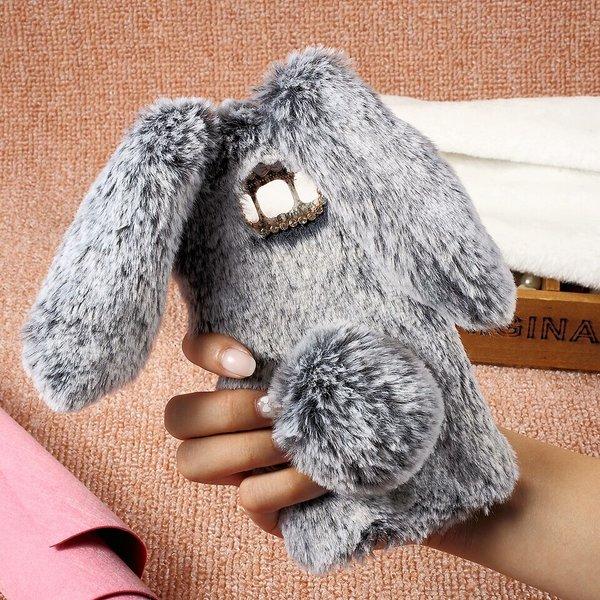 faux fur fluffy bunny case my cute case