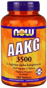 AAKG BY NOW FOODS 60 SERVINGS