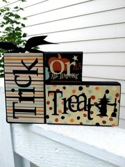 Trick or Treat blocks - VINYL and PAPER only