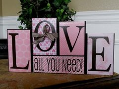 LOVE - All You Need blocks - VINYL and PAPER only