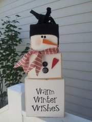 Warm Winter Wishes Snowman blocks - Full kit
