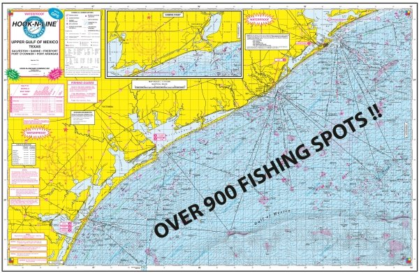 F131 gulf of mexico offshore fishing map hook n line for Fishing spots in galveston