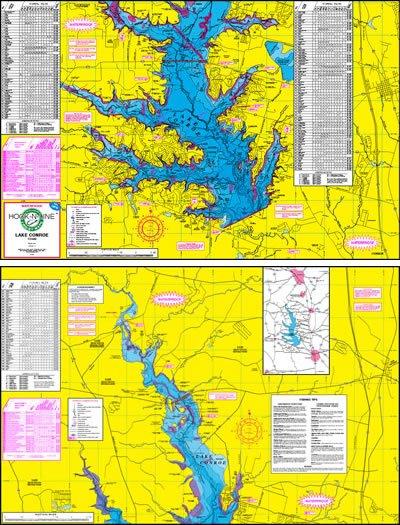 F105 Lake Conroe Fishing Map Hook N Line Fishing Maps