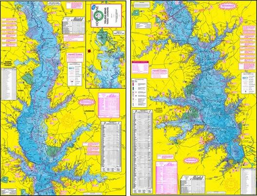 F113 toledo bend fishing map with gps hook n line for Toledo bend fishing