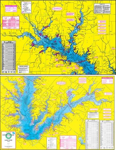 F110 lake fork fishing map hook n line fishing maps for Fishing lake fork