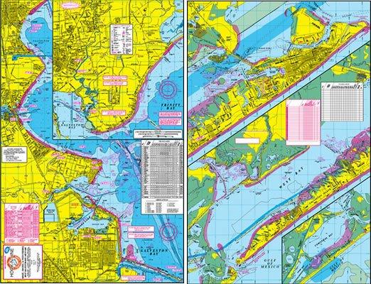 F103 Wade Fishing Map of West Galveston Bay Area  HookNline