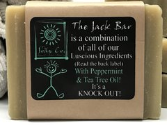THE JACK SHAMPOO BAR for PEOPLE! (minty fresh with tea tree oil!) GREAT FOR DANDRUFF AND ITCHY SCALP! 1 OUNCE SAMPLE