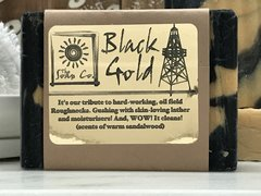 BLACK GOLD! (scented with sandalwood and warm honey) 1 OUNCE SAMPLE