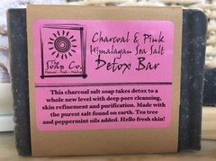 CHARCOAL + PINK HIMALAYAN SEA SALT DETOX BAR (with tea tree oil!) 1 OUNCE SAMPLE